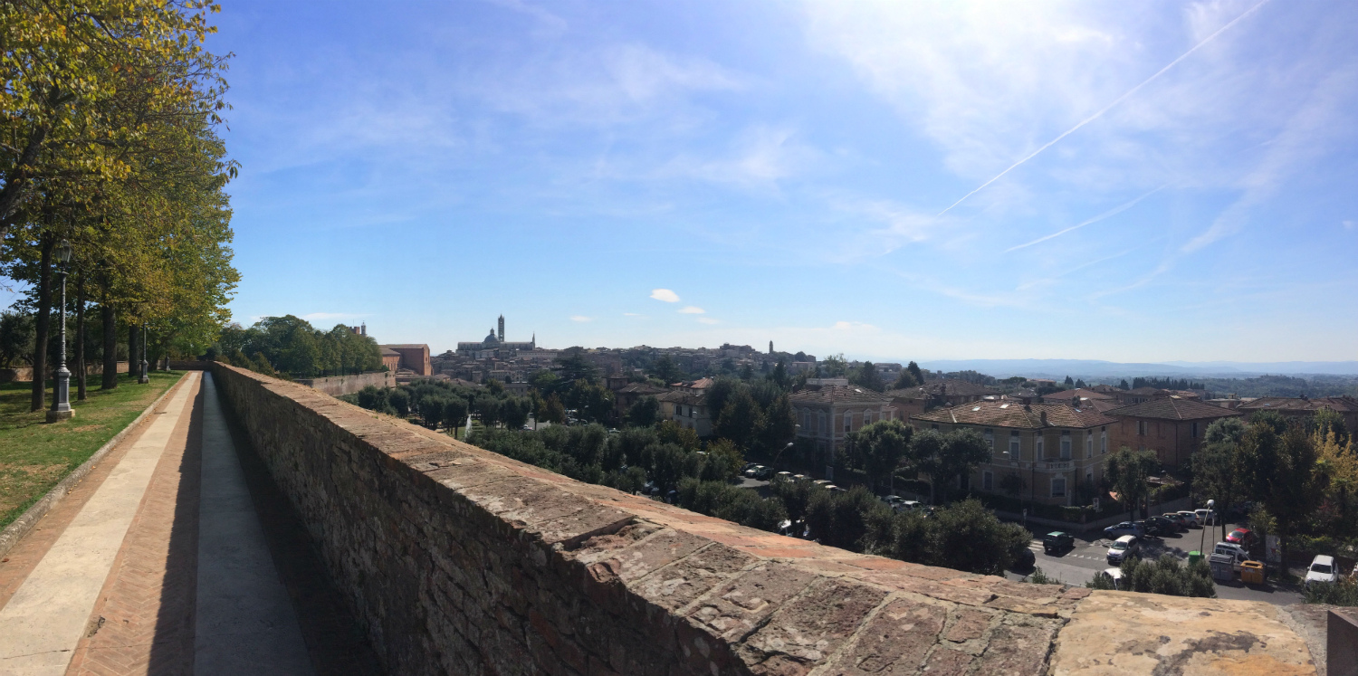 The city of siena in Tuscany