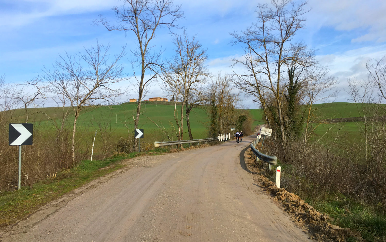 The sienese dirt roads as ridden in the Strade Bianche