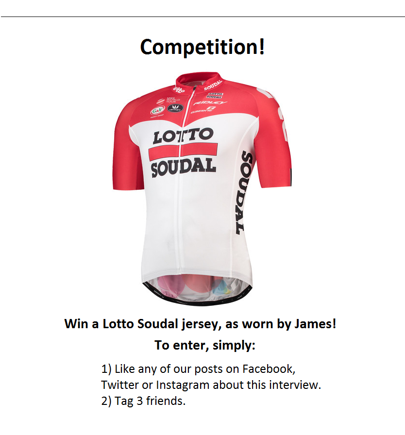 Rider Interview - Q&A with Lotto-Soudal's James Shaw