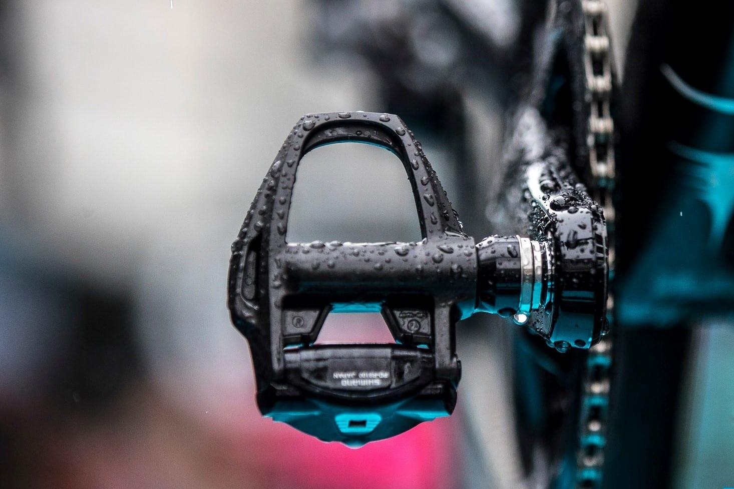 a Shimano road bike pedal