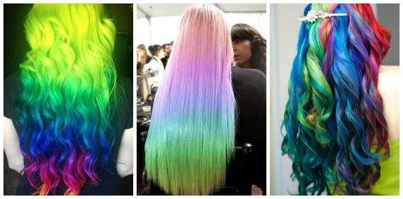 rainbow hair trends 1