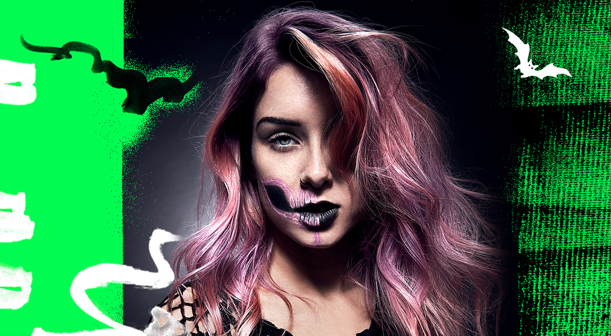 NEON SKULL HALLOWEEN SKELETON MAKEUP TUTORIAL | #HQSCARE