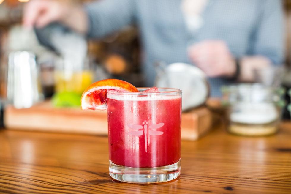 blood orange christmas cocktail