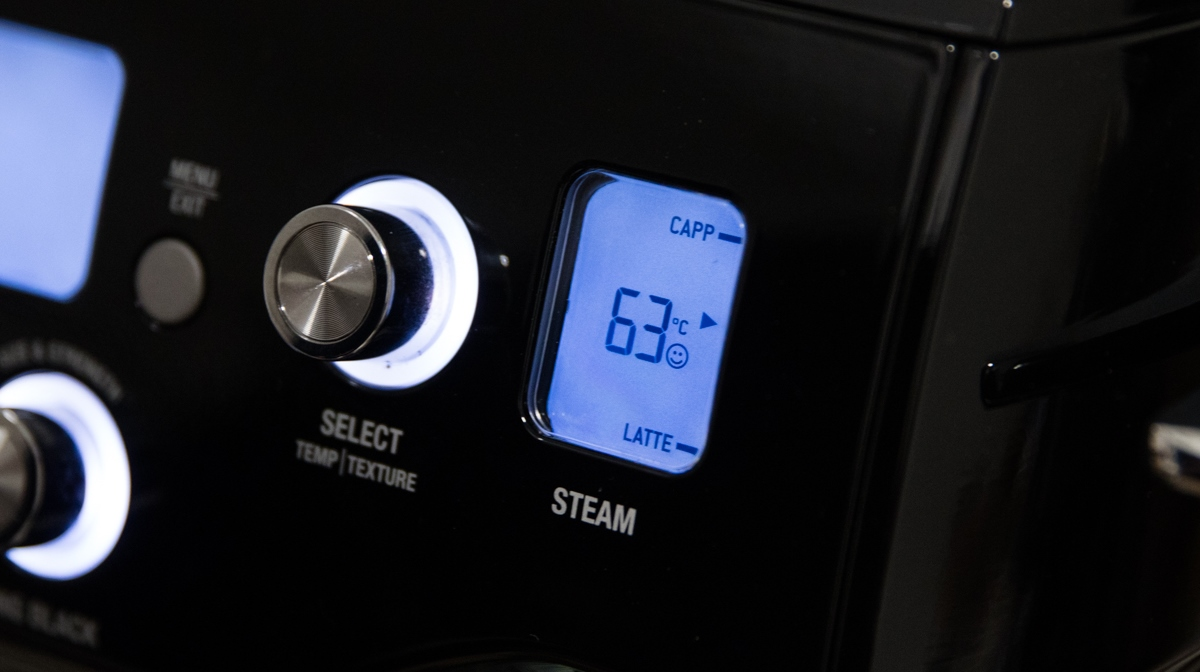 smiley face symbol when you have the settings within Sage's guidelines on the sage by heston blumenthal the oracle coffee machine