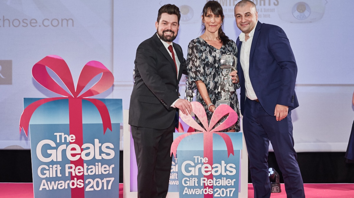The Greats Gift Retailer Awards 2017 IWOOT wins