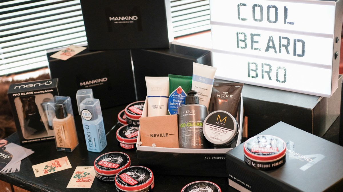 Mankind products laid out