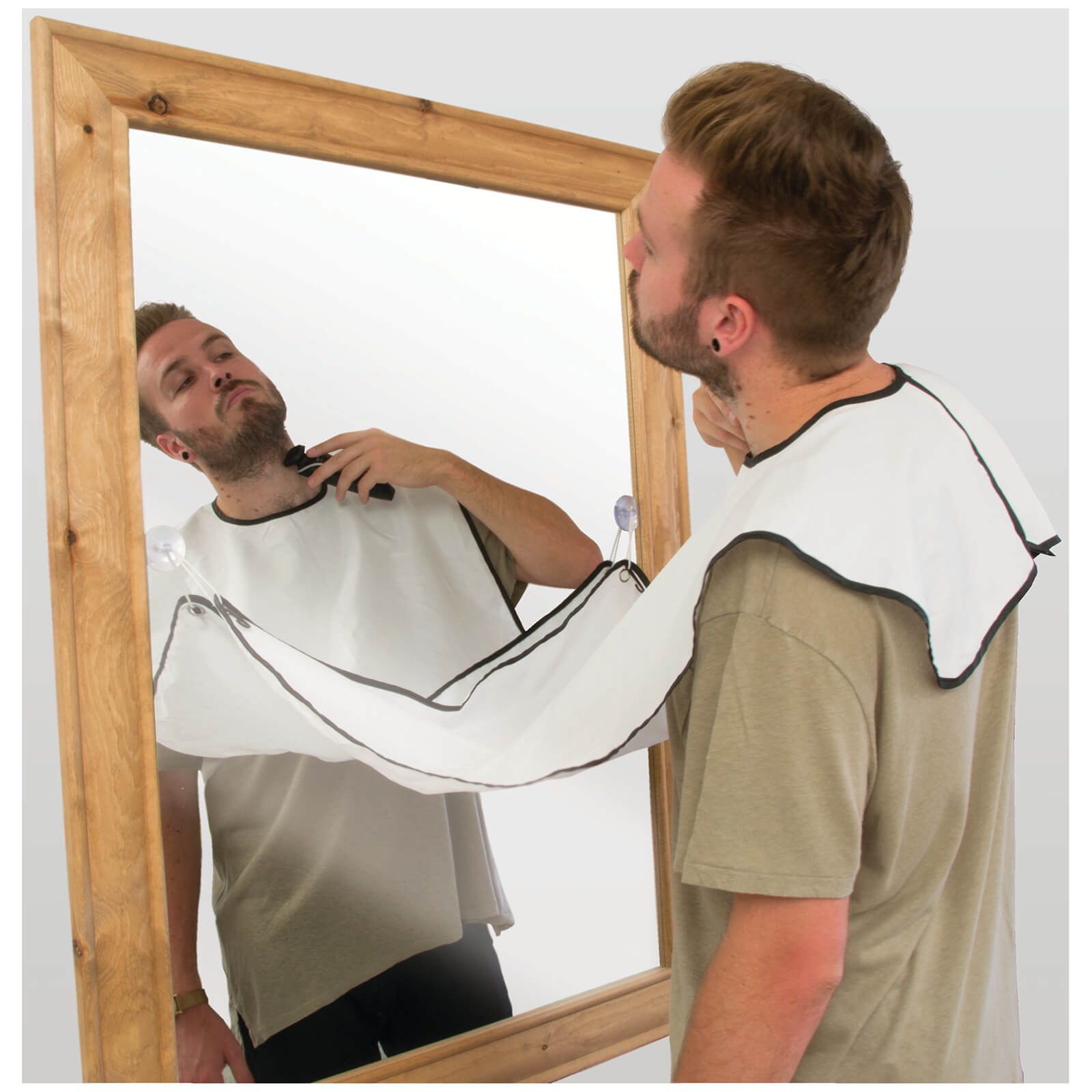 Beard products don't get as funny as the the beard buddy shaving apron. No more fly-away hairs!