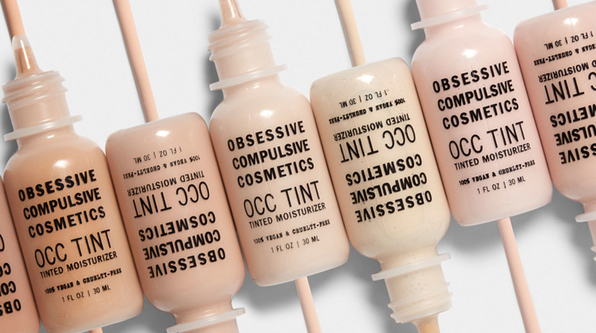 Various shades of tinted moisturiser from OCC