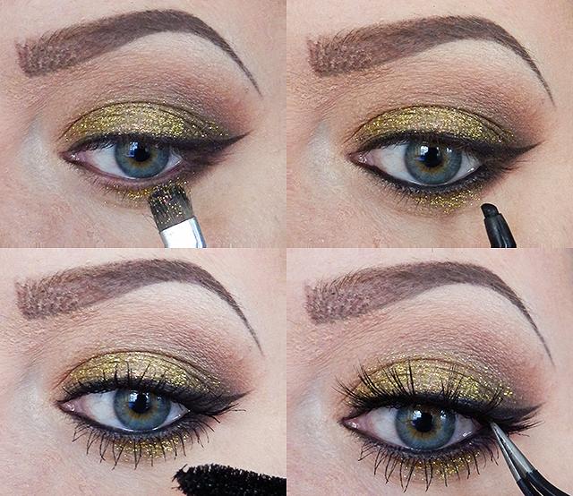 Eyeliner, glimmer og falske vipper.