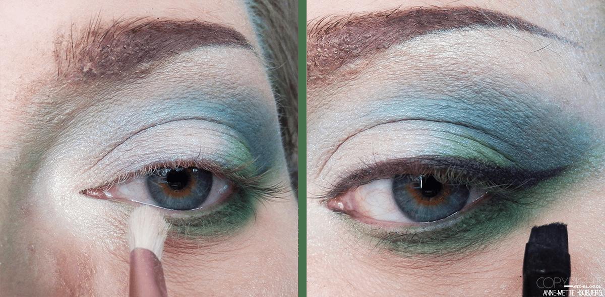 Brug små børster til at lægge øjenmakeup i elver looket.