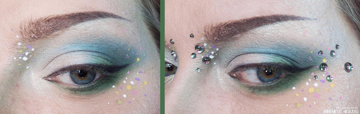 Makeup med glimmer til elver look