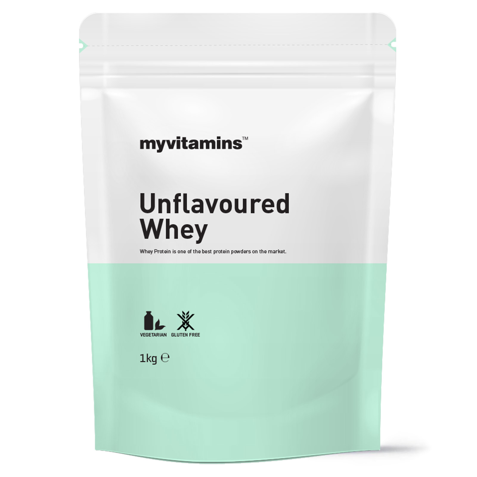 Pouch of unflavoured whey protein