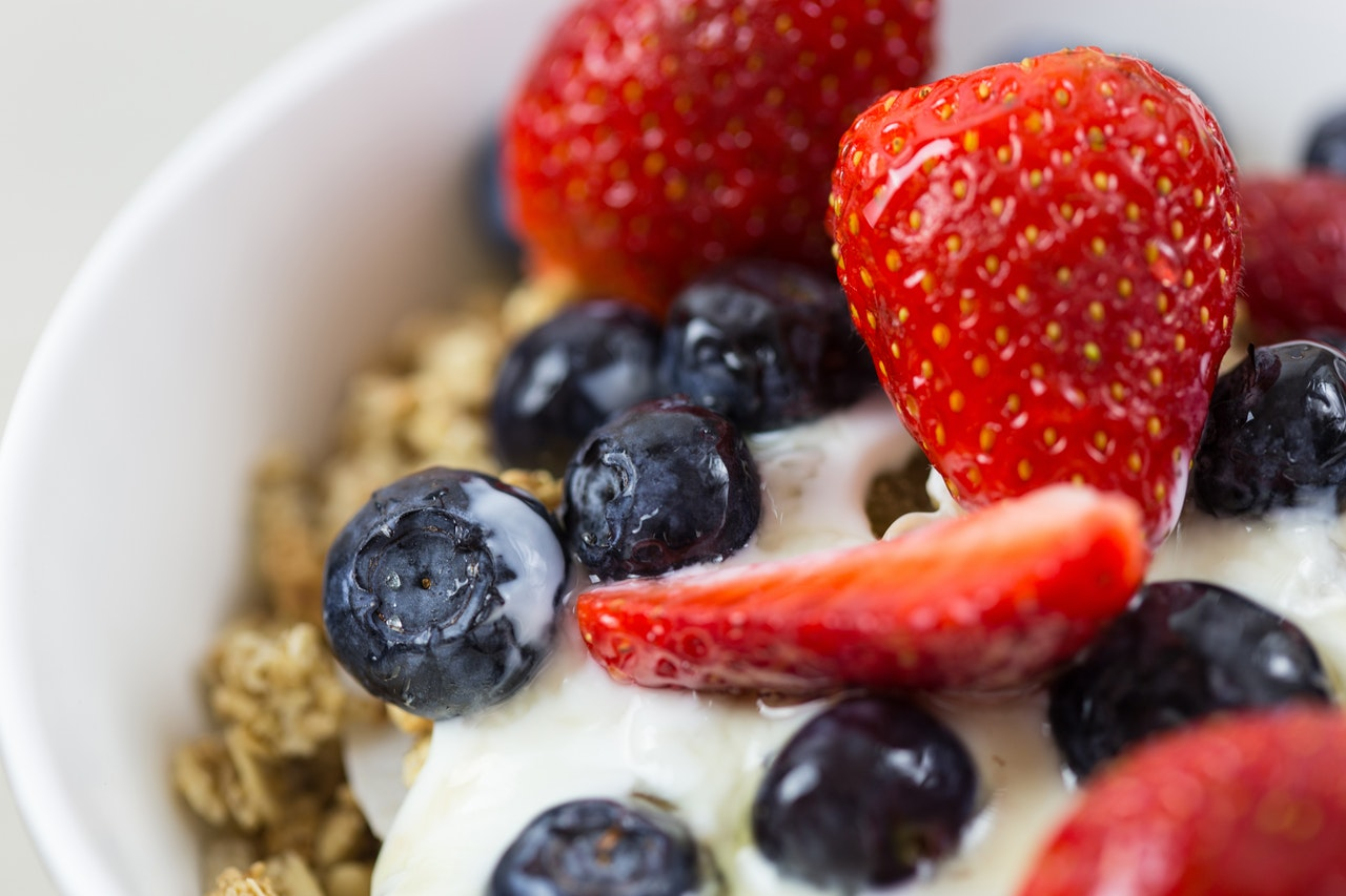 strawberry and yoghurt made from healthy breakfast recipes