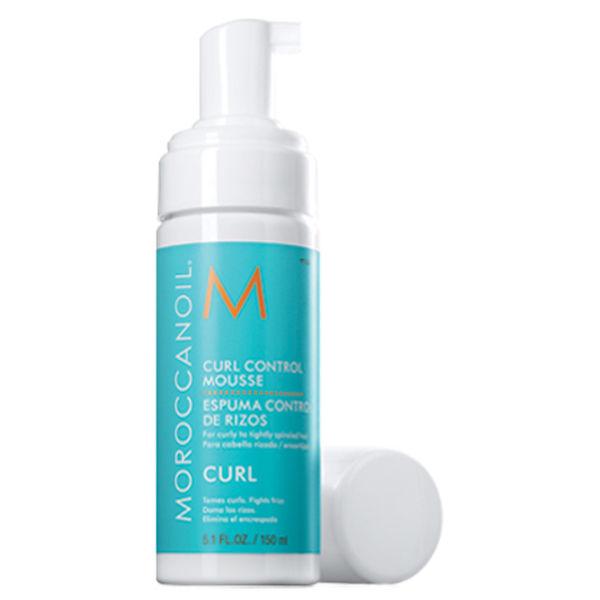 Moroccanoil Curl Control Mousse bottle open with pump