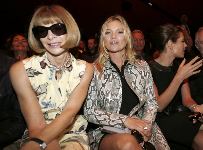 Anna Wintour and Kate Moss