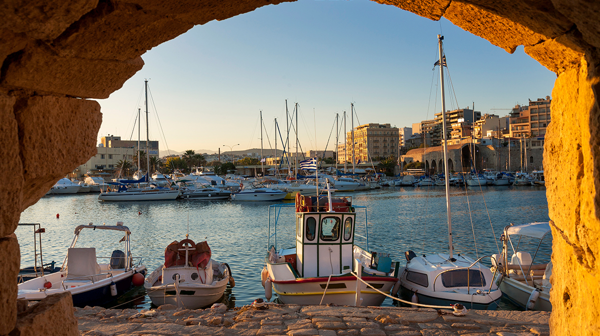 autumn break destinations crete boat harbour