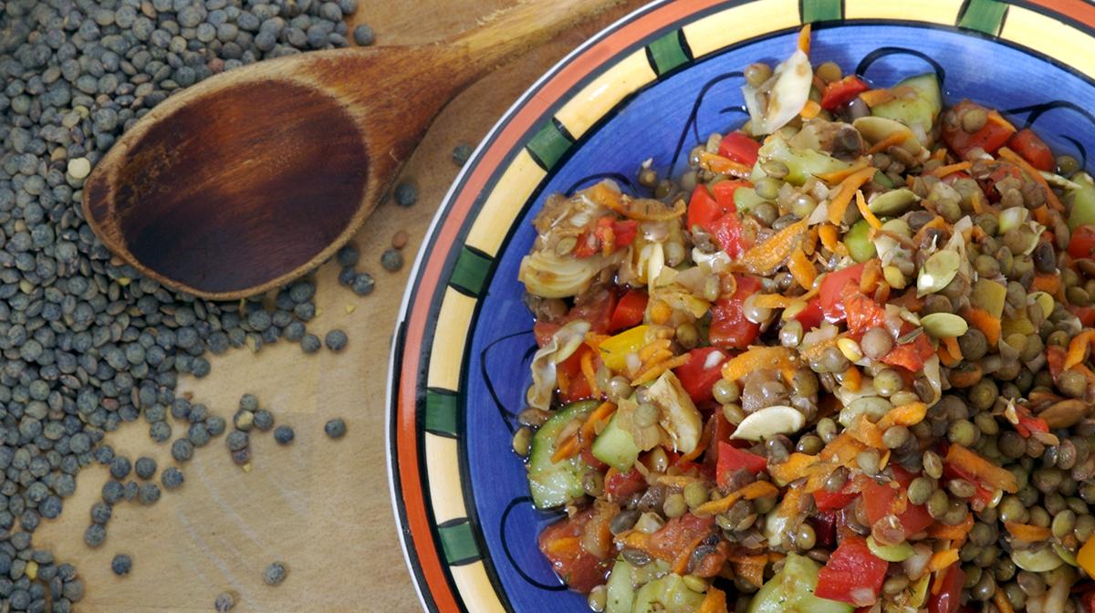immune system boosting winter meals warm lentil salad