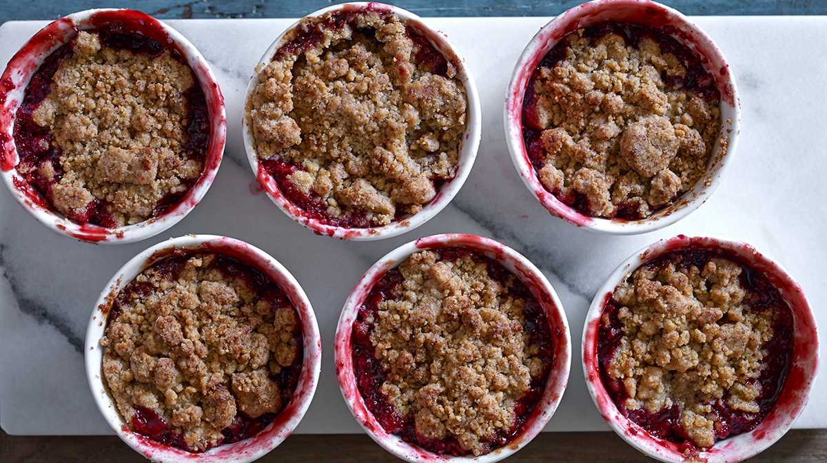 christmas pudding crumble boxing day recipes