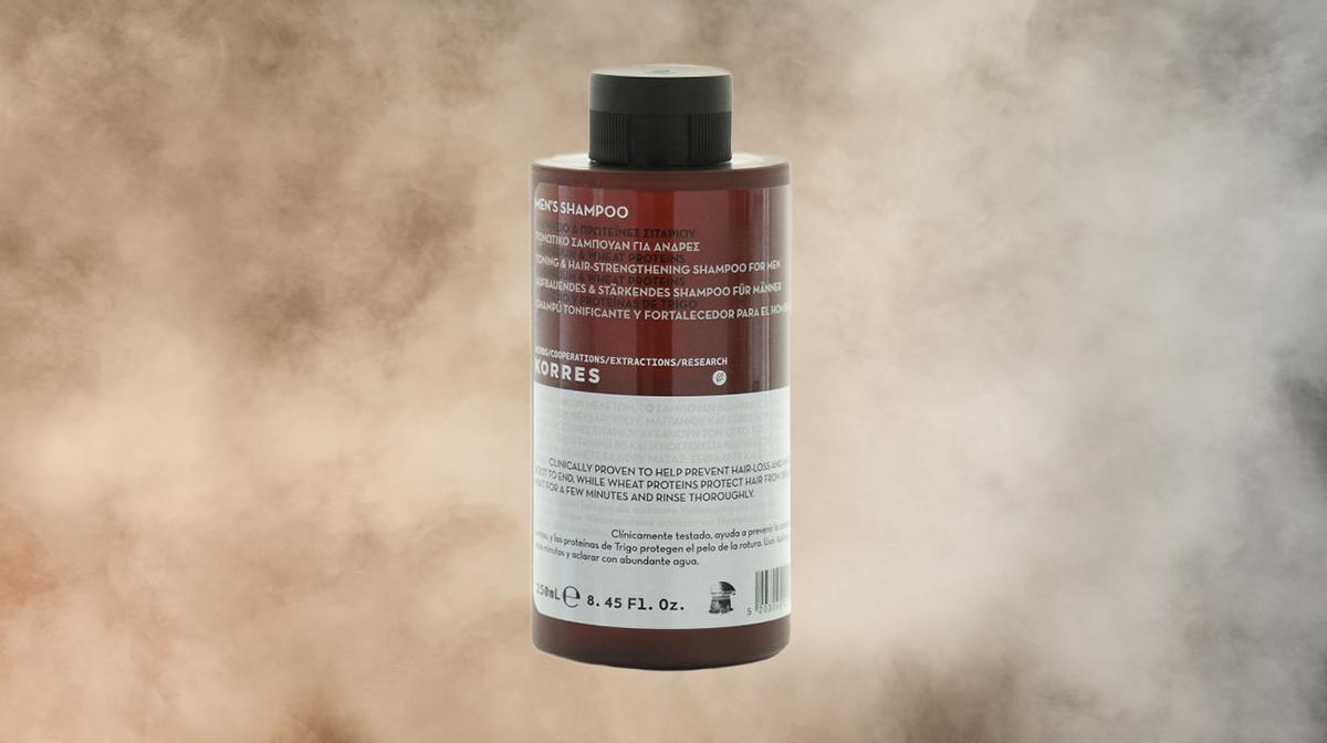 Showcasing Korres Men Magnesium & Wheat Shampoo
