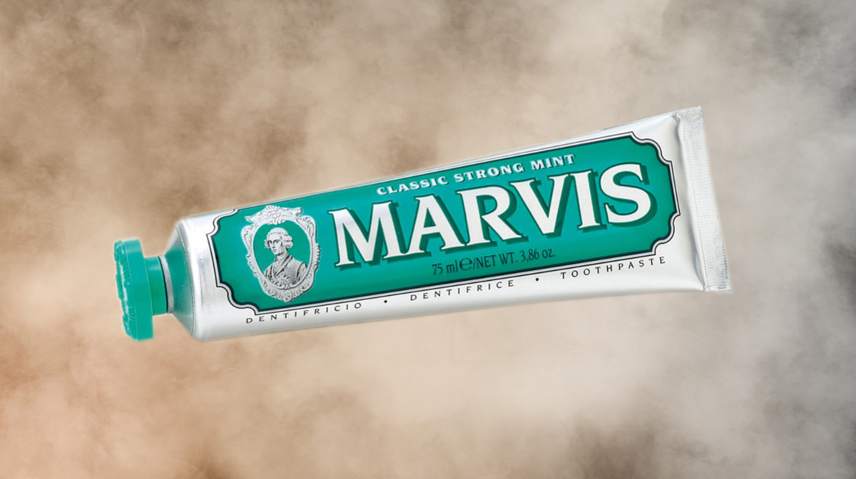 Showcasing Marvis Classic Strong Mint Toothpaste