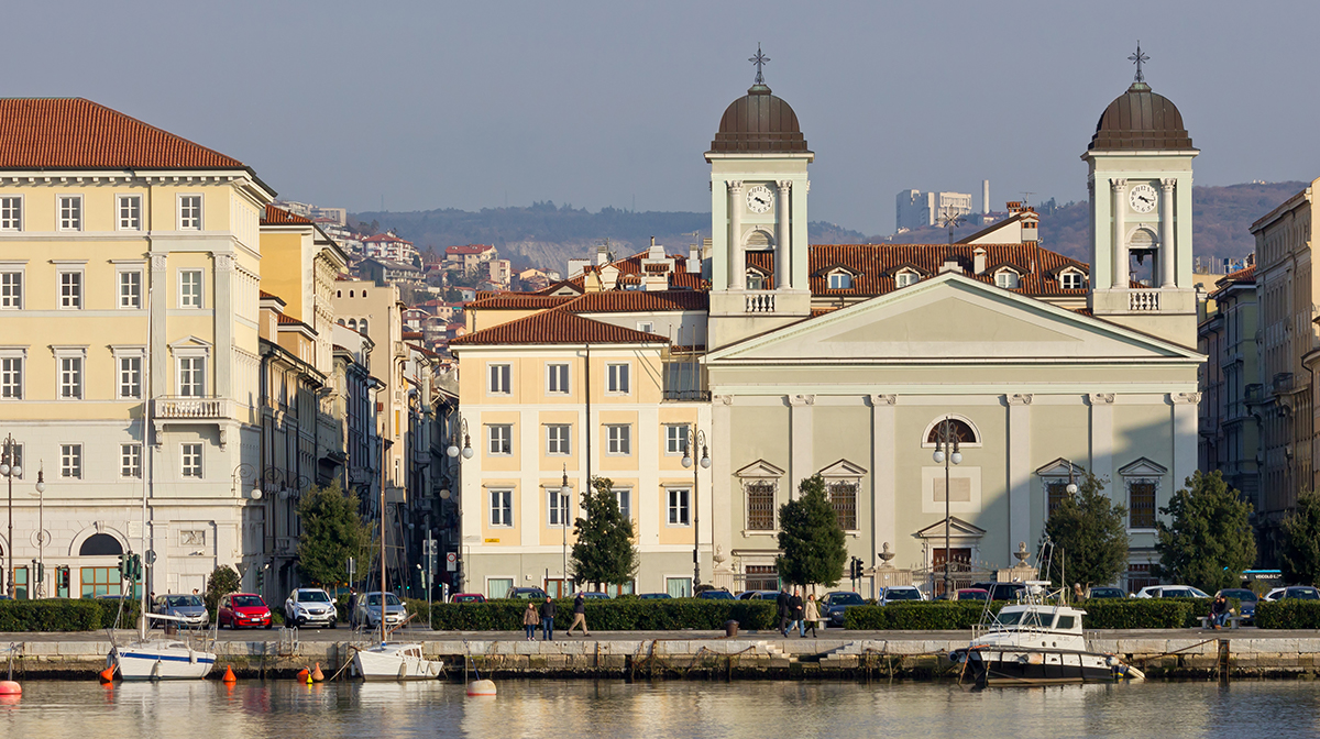 The waterfront in Trieste.