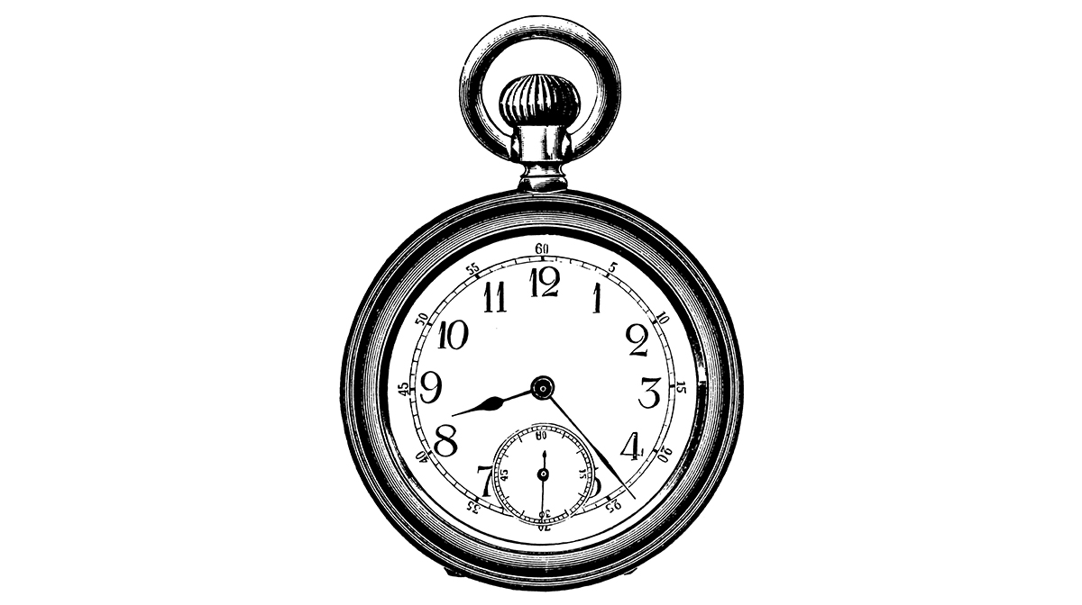 Drawing of a clock