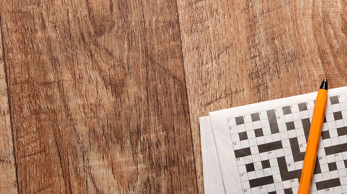 Crossword puzzle with pen