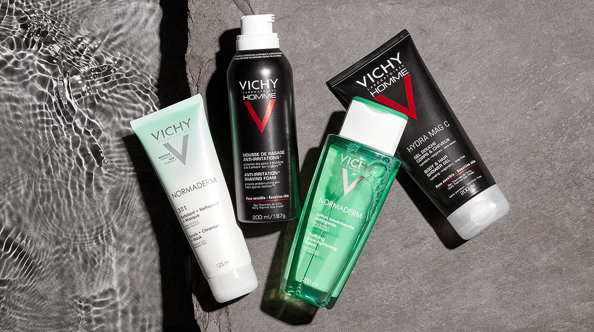 Building your routine with Vichy Normaderm and Vichy Homme
