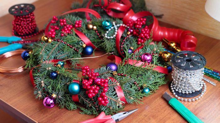 DIY: Adventskranz zum 1. Advent selber machen