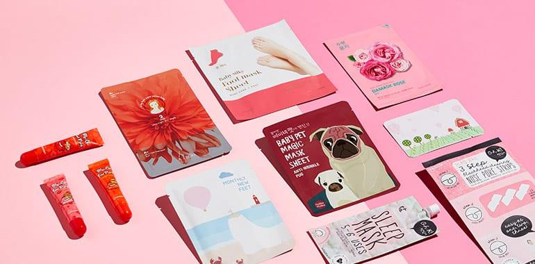 koreanische kosmetik gesichtsmasken und lip tints