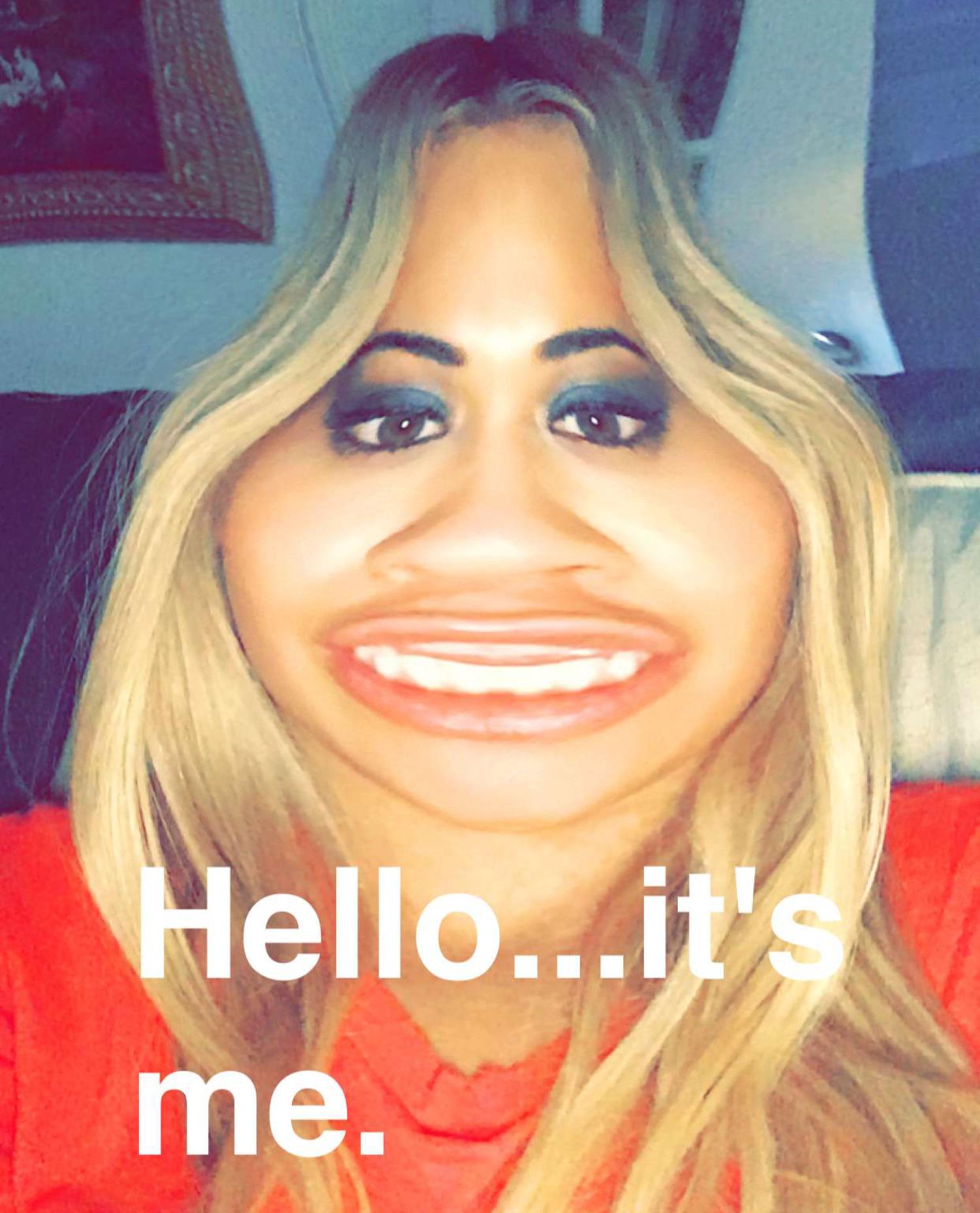 Rita Ora Snapchat Stretch