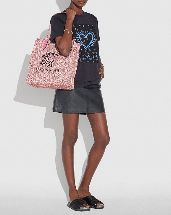 Coach X Keith Haring Tote-pink