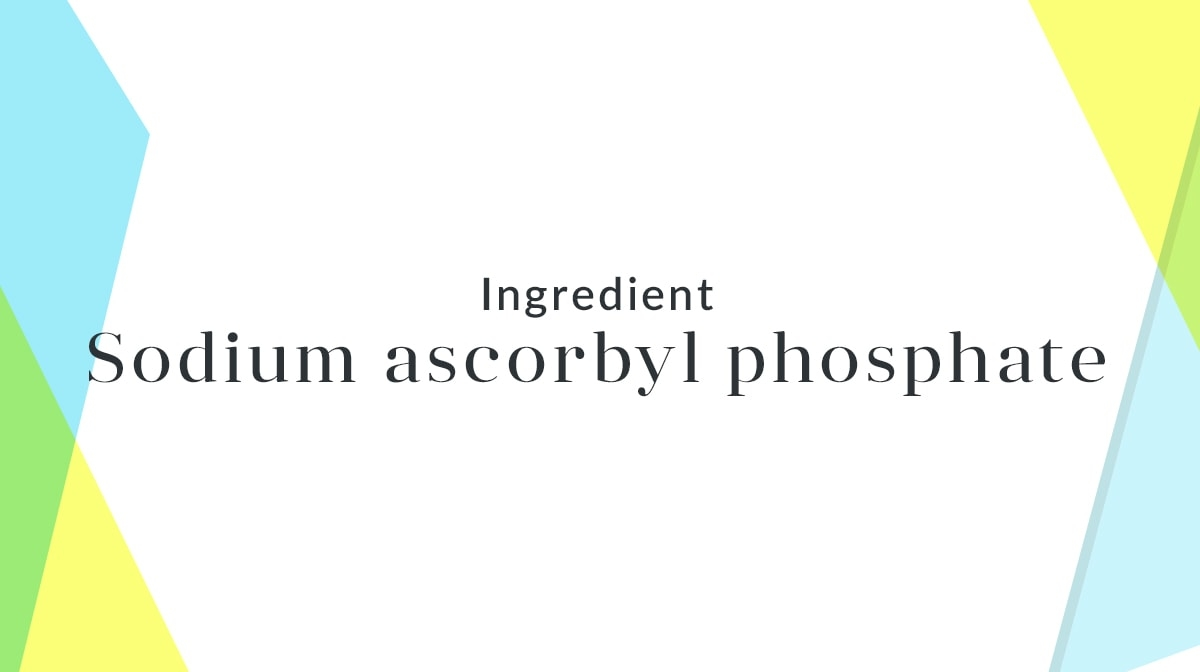 Why is sodium ascorbyl posphate important?