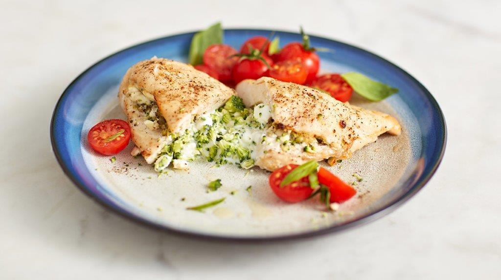 Gefüllte Hähnchenbrust mit Gemüse | Rezept