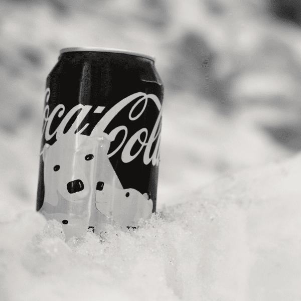 coca cola in ice