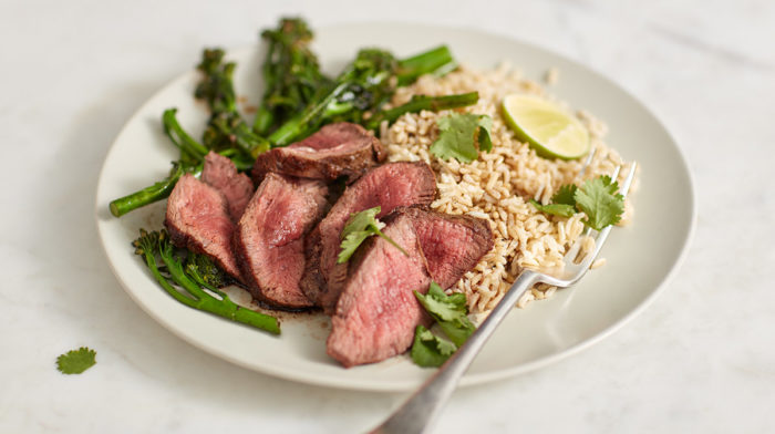 Protein Packed Beef Steak with Lime Rice