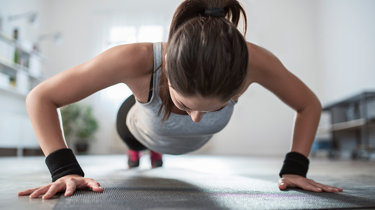 Here's How to Tone Up without Leaving the House #WednesdayWorkout