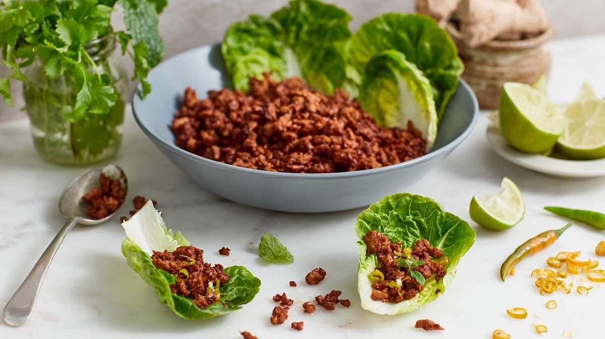 Spring eBook Recipe | Thai Green Pork Lettuce Cups