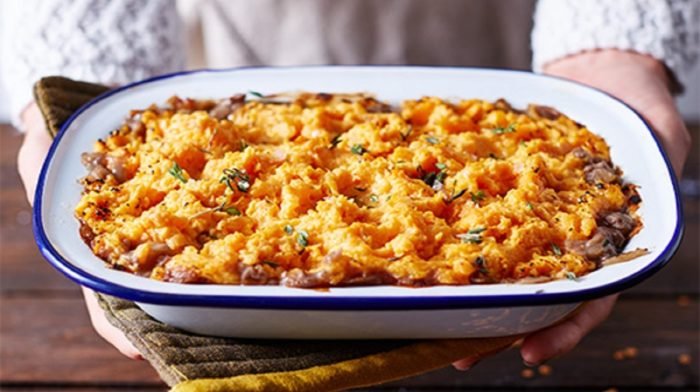 Healthy Sweet Potato Cottage Pie