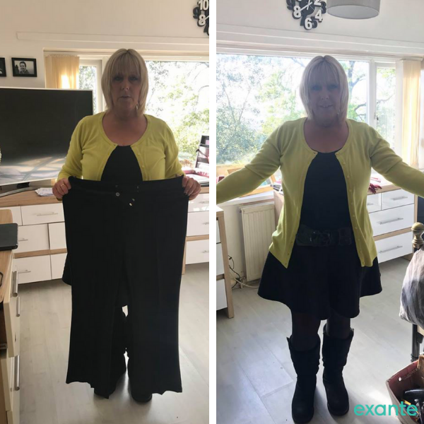 Ann's - slimmer of the month contestant - transformation images