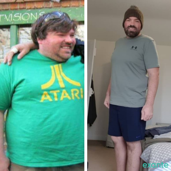 john, slimmer of the month contestant, before and after images