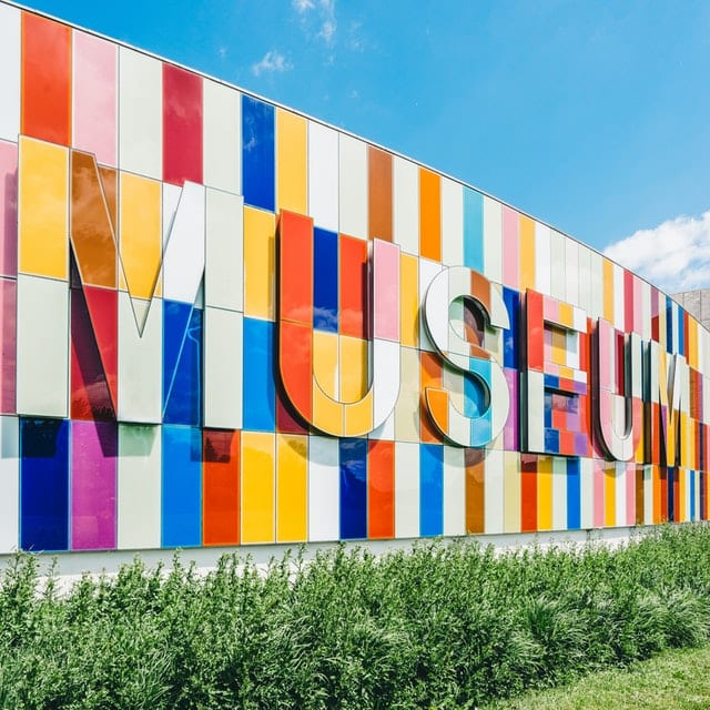 outdoor wall of museum
