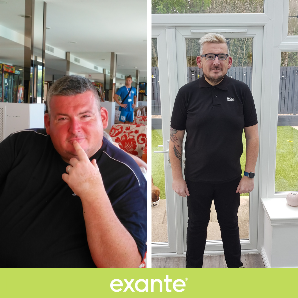 Adrian, a Slimmer of the Season shortlisted contestant, before and after images