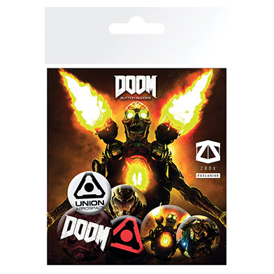 DOOM Badge Pack - March ZBOX