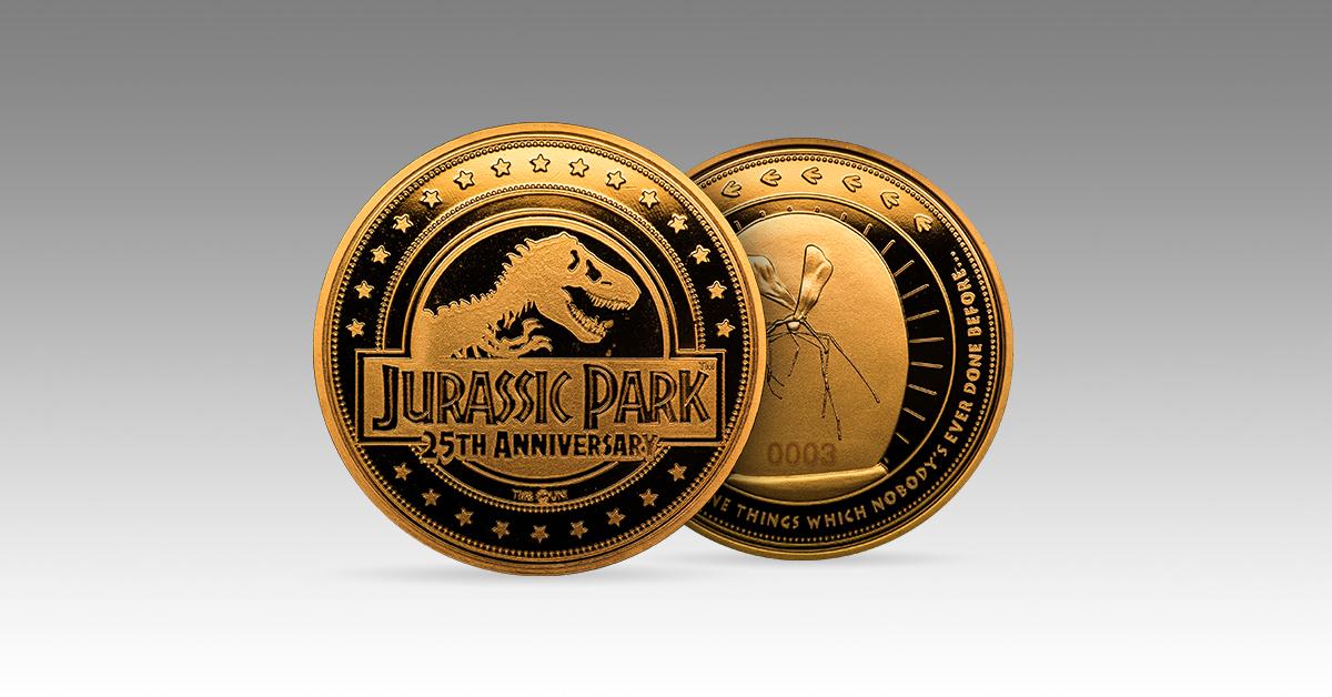 jurassic park zavvi collectors coins