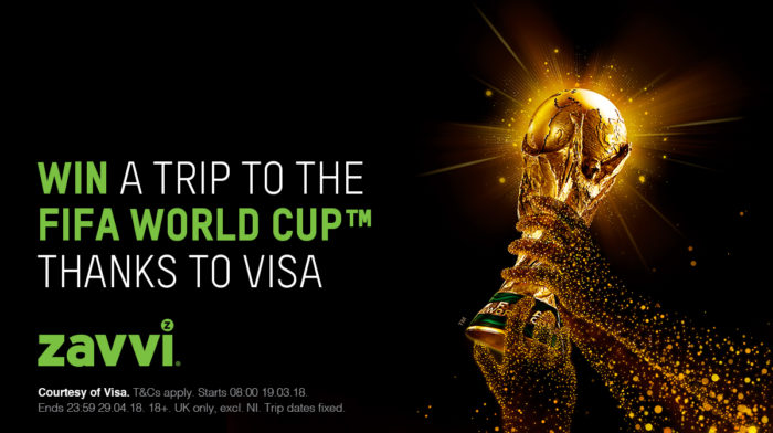 Win a trip to the 2018 FIFA World CupTM courtesy of Visa!