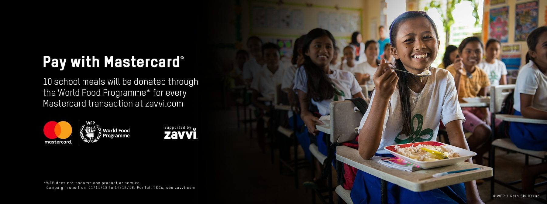 Pay with Mastercard on Zavvi and help support the World Food Programme