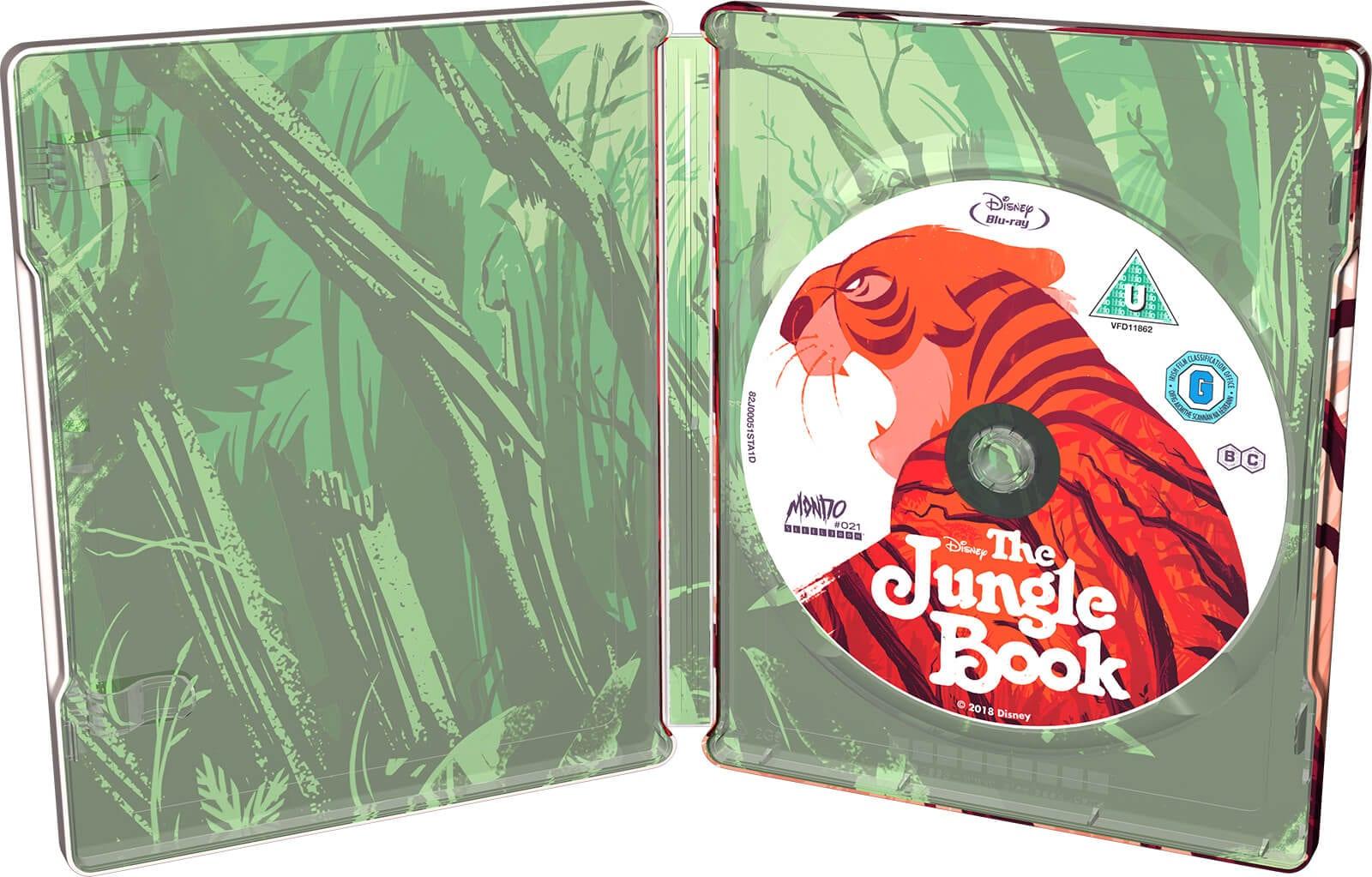The Jungle Book (Animation) - Mondo Steelbook Zavvi Exclusive Interior
