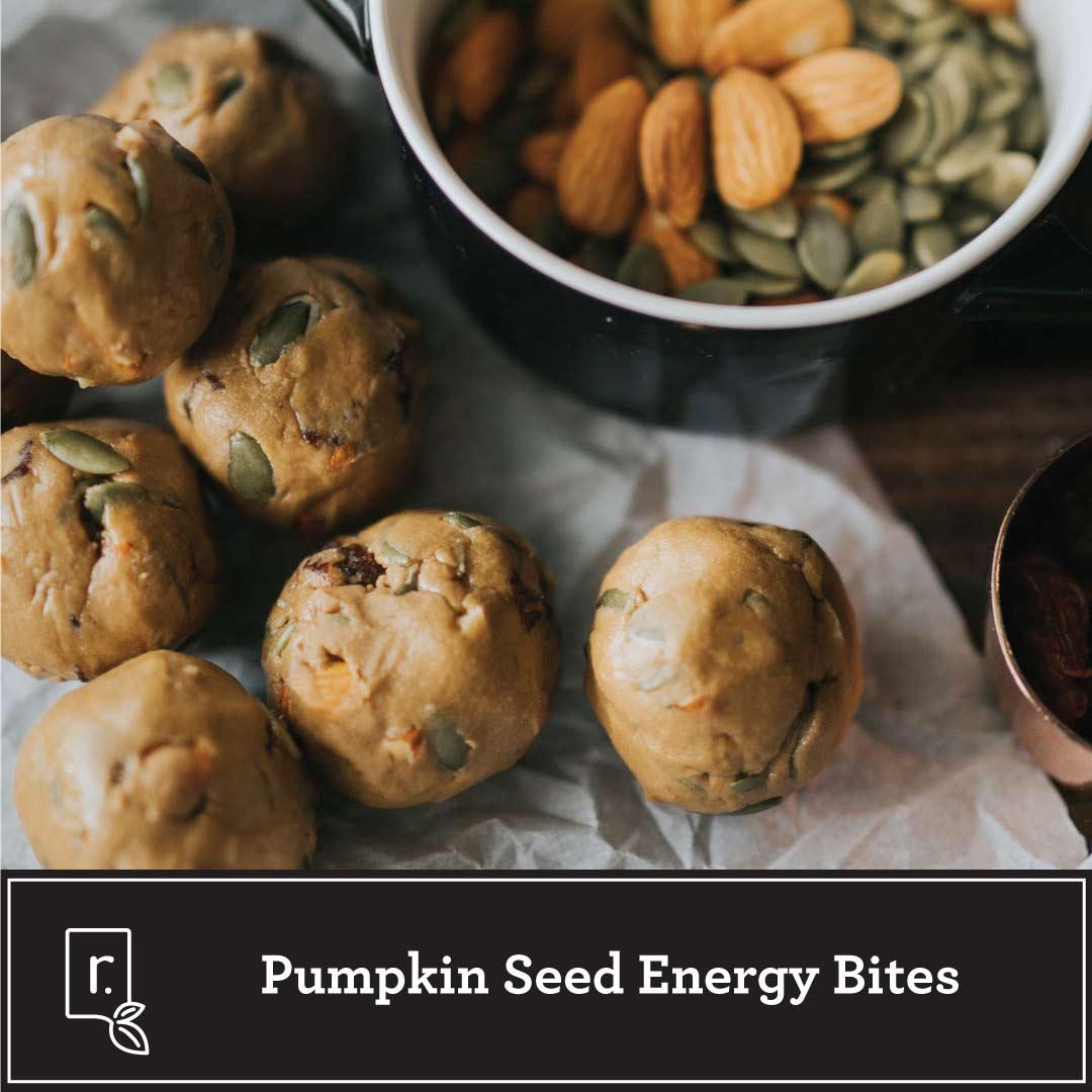pumpkin seed energy bites