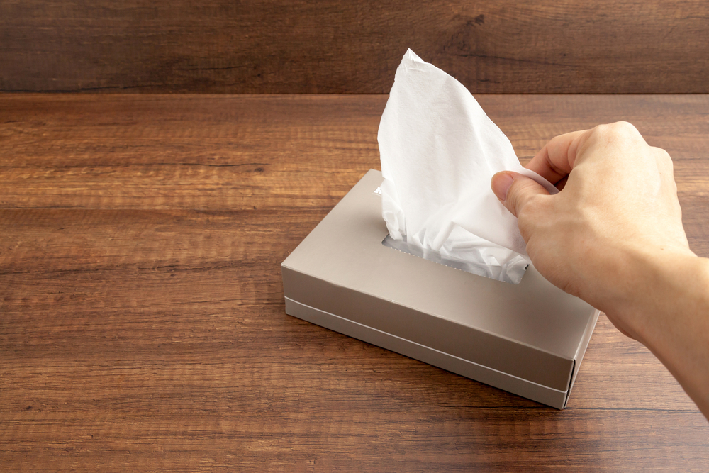 grabing a tissue-getting sick all the time
